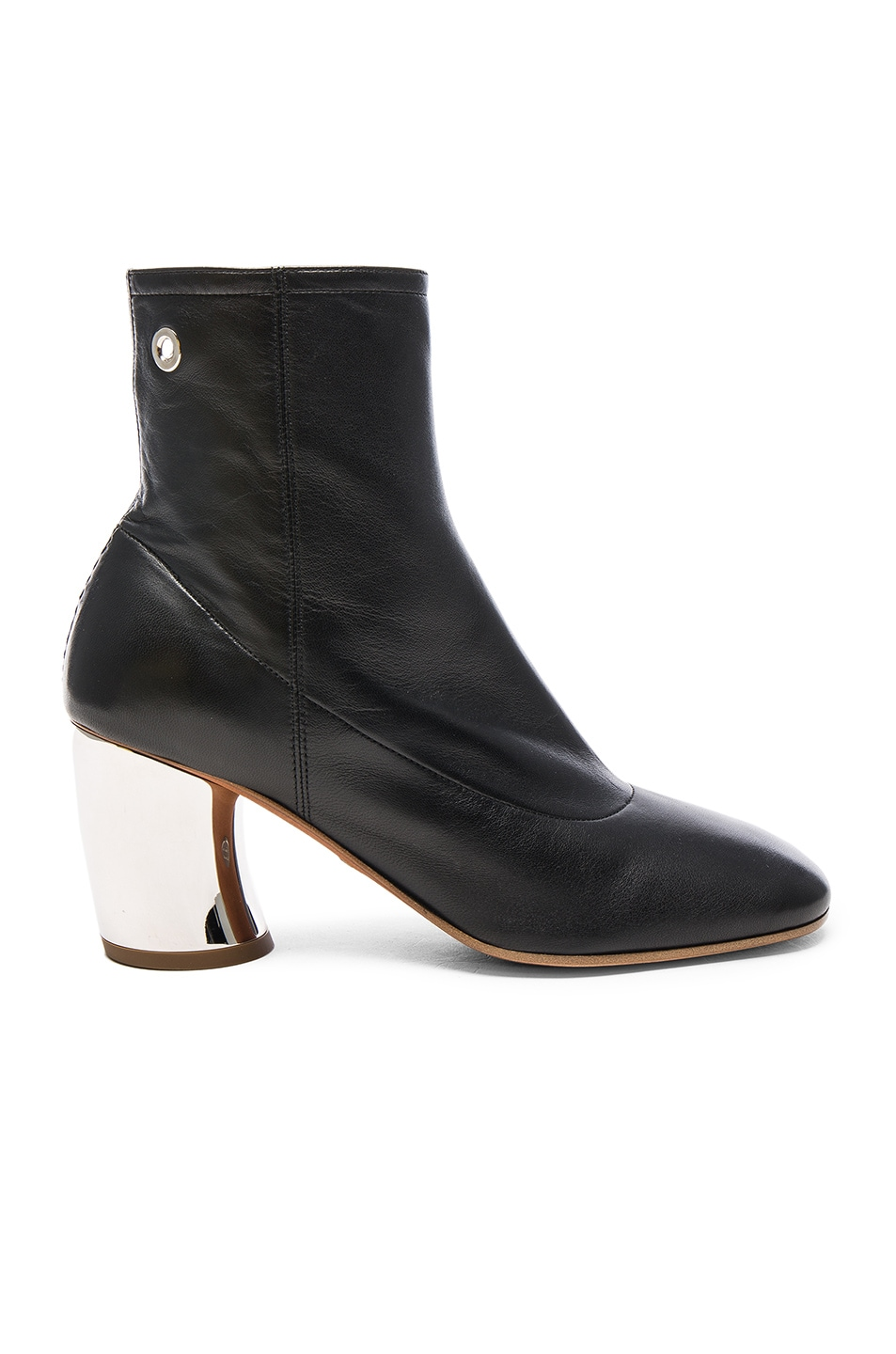Image 1 of Proenza Schouler Leather Booties in Black