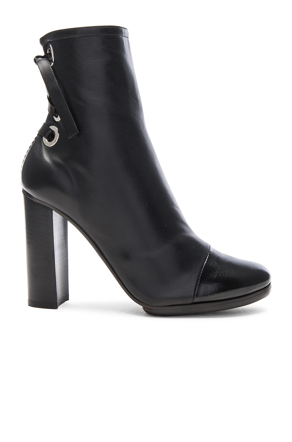 Image 1 of Proenza Schouler Platform Leather Booties in Black