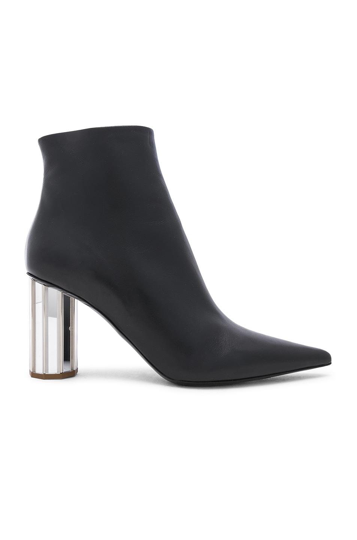 Image 1 of Proenza Schouler Mirror Heel Ankle Boots in Black & Silver