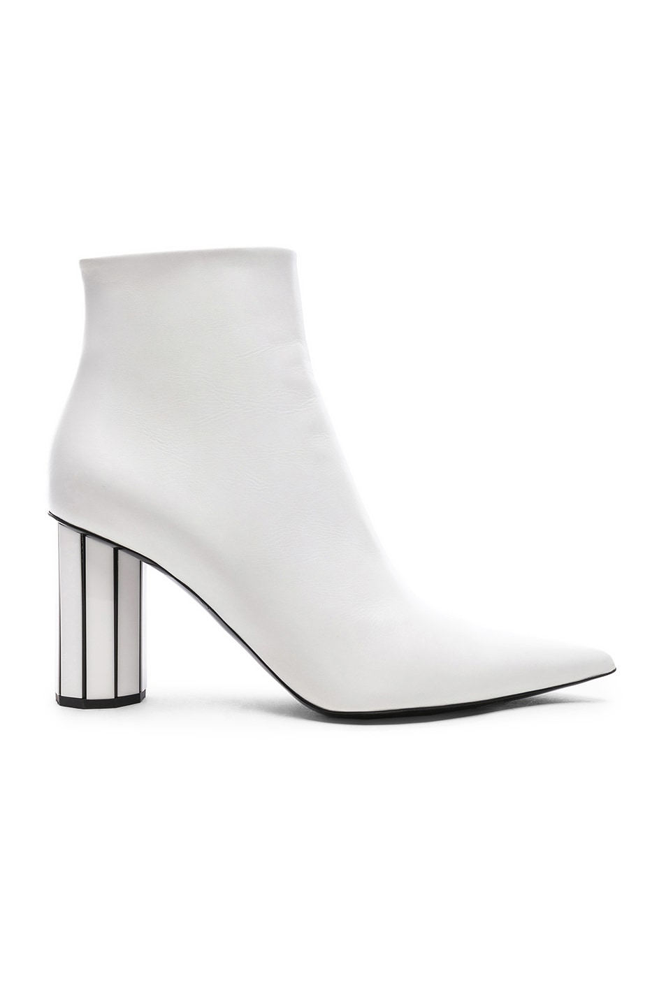 Image 1 of Proenza Schouler Mirror Heel Ankle Boots in White
