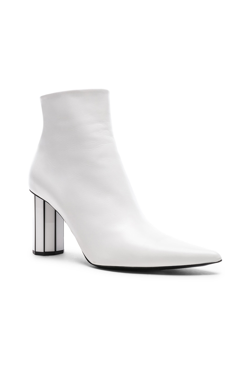 Image 2 of Proenza Schouler Mirror Heel Ankle Boots in White