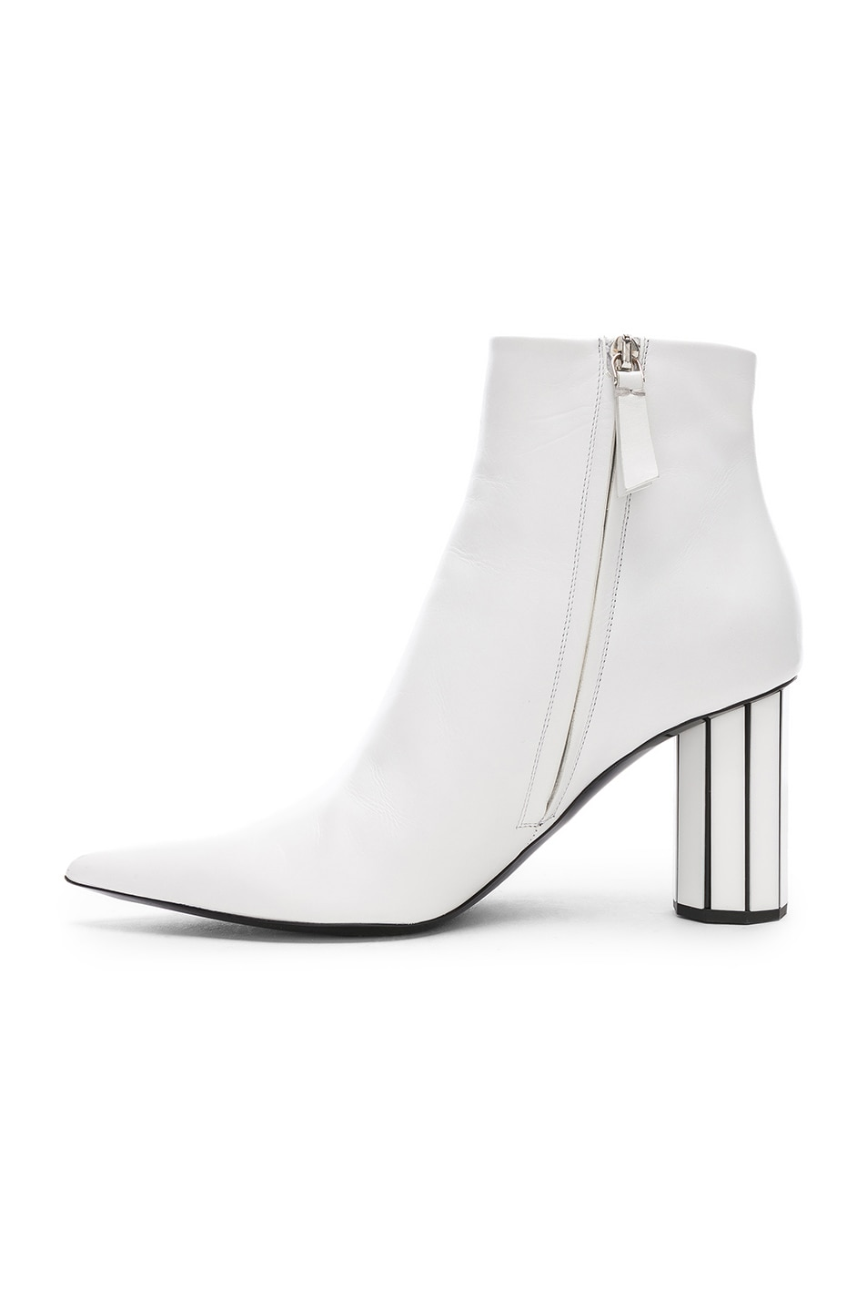 Image 5 of Proenza Schouler Mirror Heel Ankle Boots in White