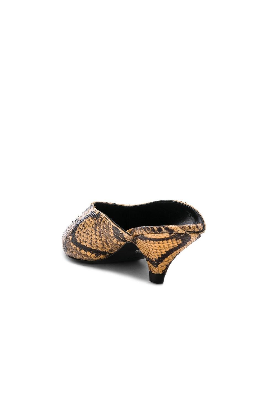 Image 3 of Proenza Schouler Python Print Kitten Heel Mules in Curry