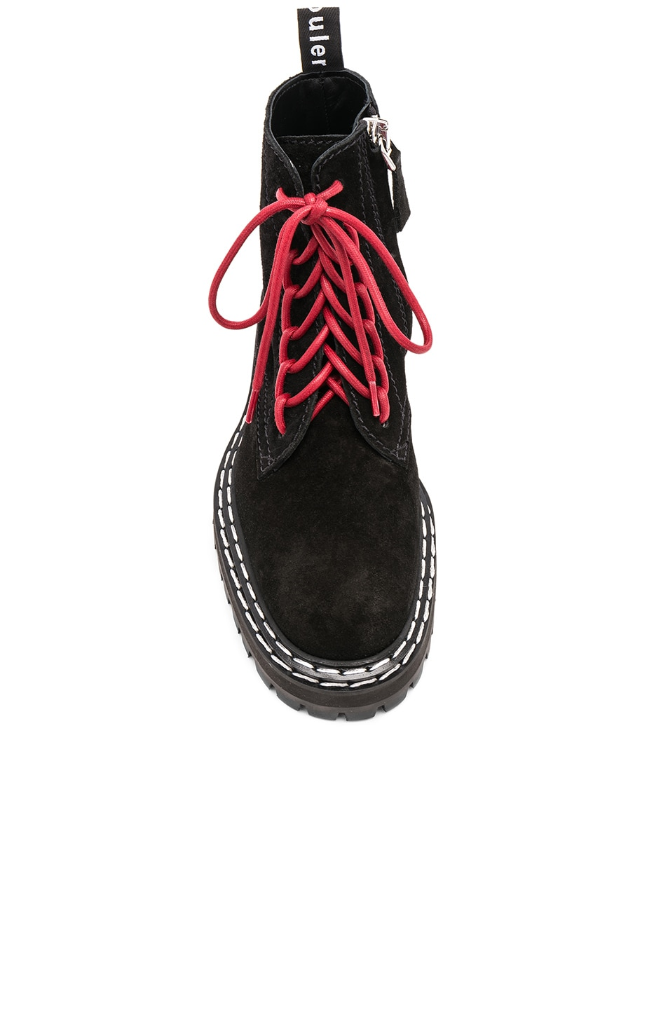 Image 4 of Proenza Schouler Suede Hiking Boots in Black