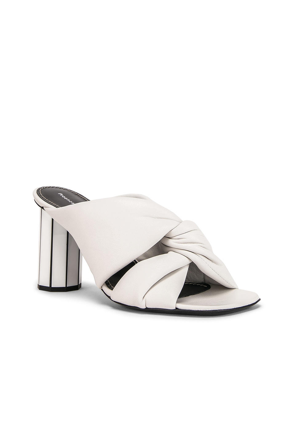 Image 2 of Proenza Schouler Mirror Heel Twist Mules in White