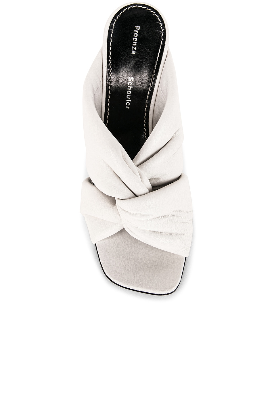 Image 4 of Proenza Schouler Mirror Heel Twist Mules in White
