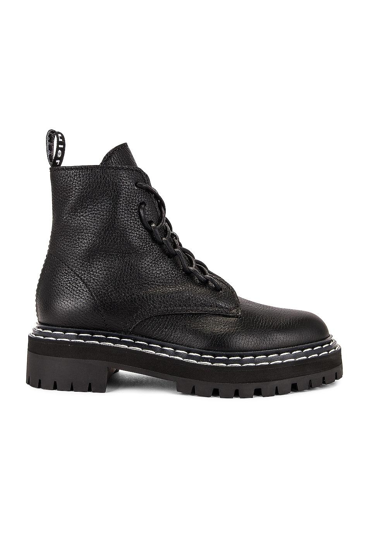 Image 1 of Proenza Schouler Lug Sole Combat Boots in Black