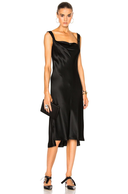 c54681ad30f7 Image 1 of Protagonist New Draped Slip Dress in Onyx