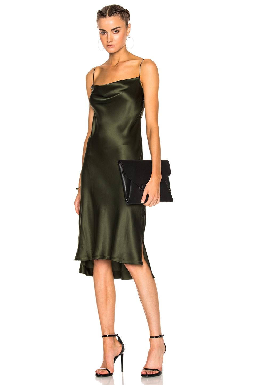a7267120f1cb Image 1 of Protagonist Draped Bias Slip Dress in Olive