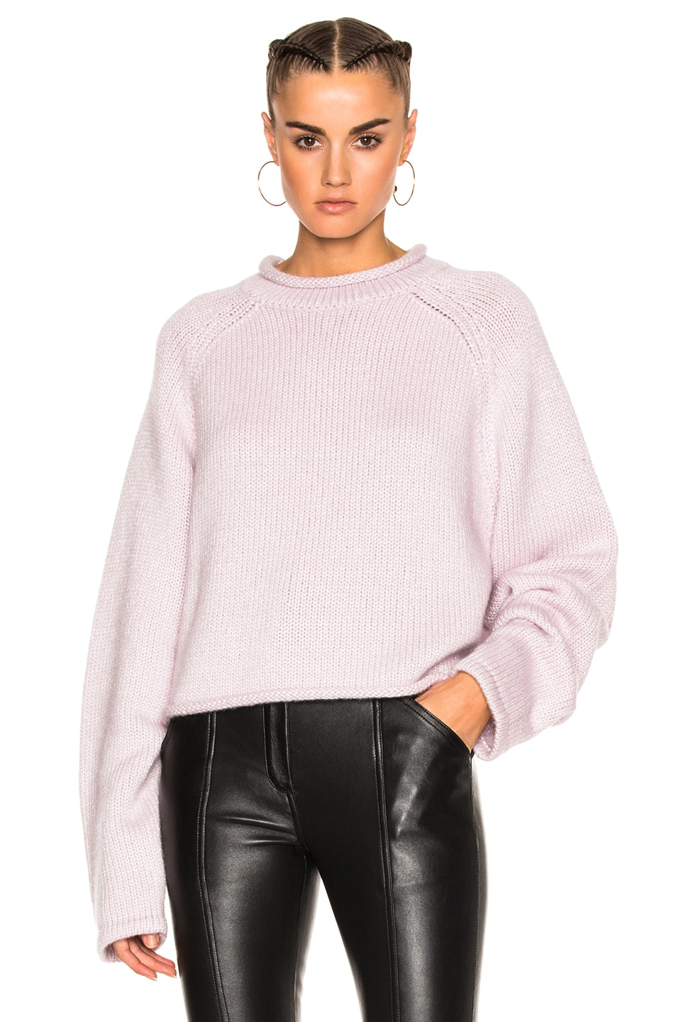 Image 1 of Protagonist Cropped Rollneck Sweater in Blossom