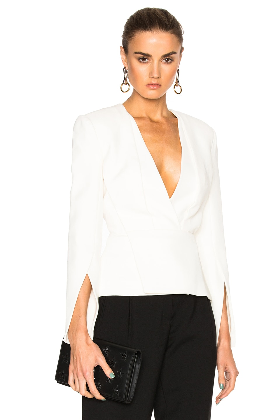 Image 1 of Protagonist Deep V Tailored Top in Calla
