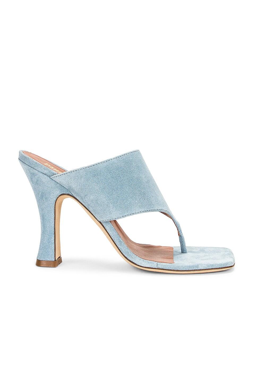 Image 1 of Paris Texas Velour 95 Thong Sandal in Light Blue