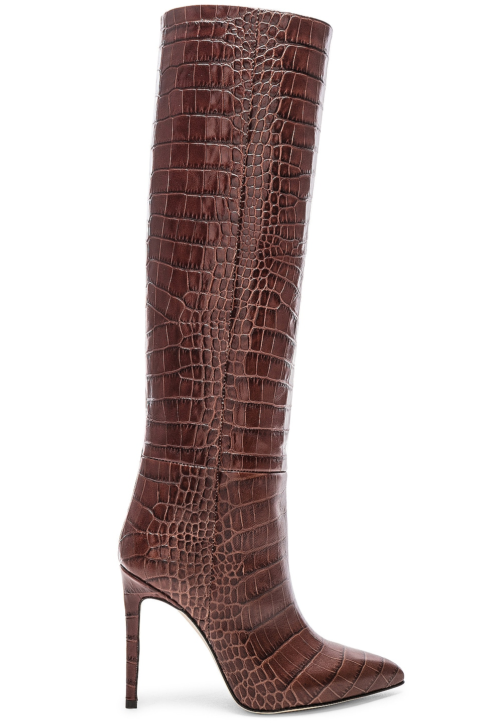 Image 1 of Paris Texas Stiletto Knee High Boot in Brown Croc