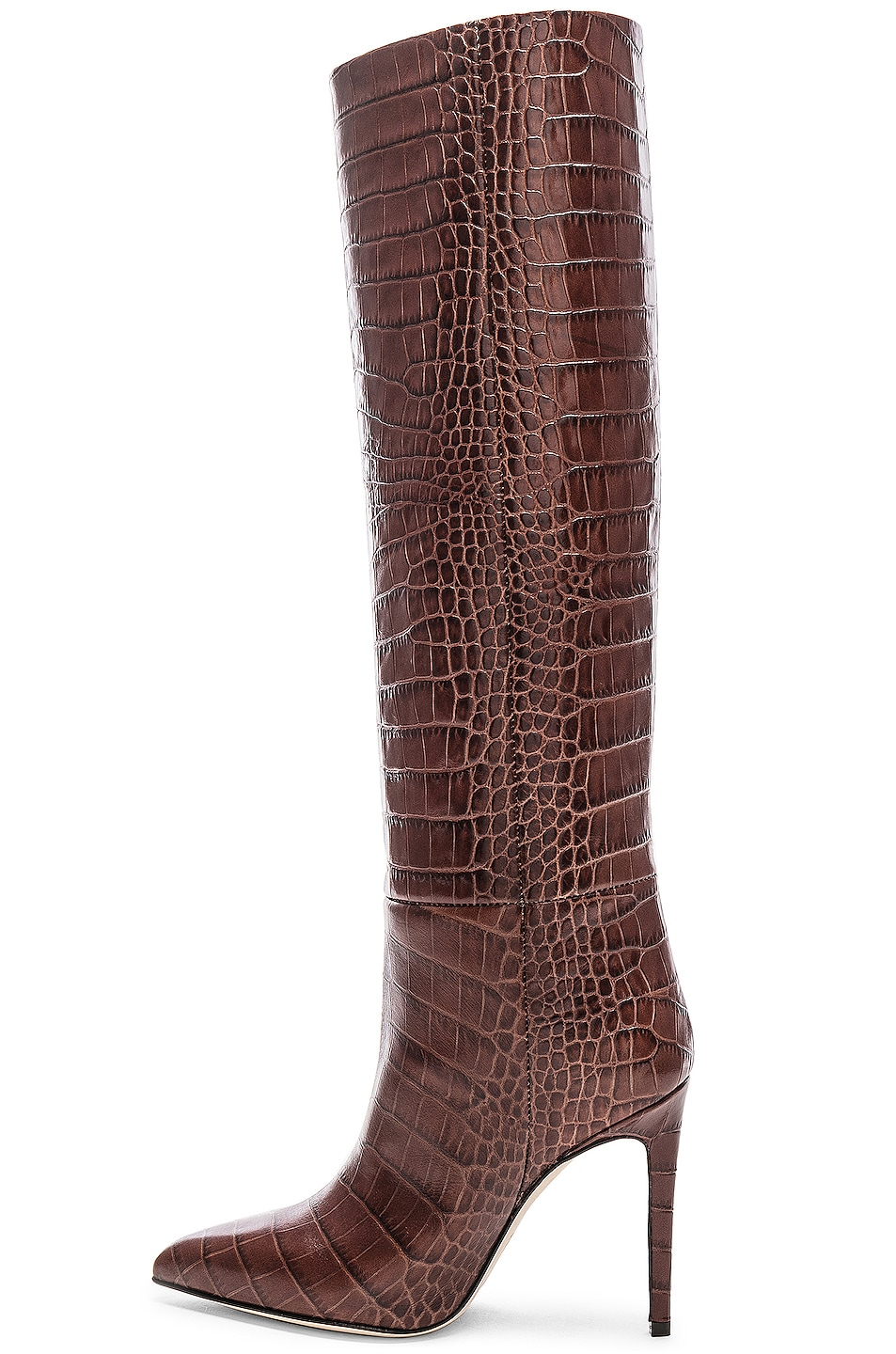 Image 5 of Paris Texas Stiletto Knee High Boot in Brown Croc