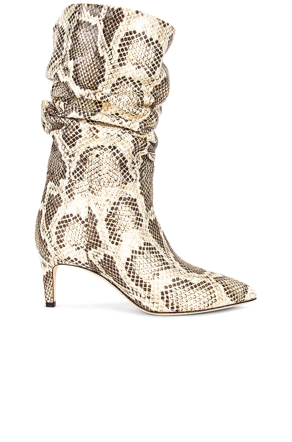 Image 1 of Paris Texas Python Print Slouchy Boot in Seppia