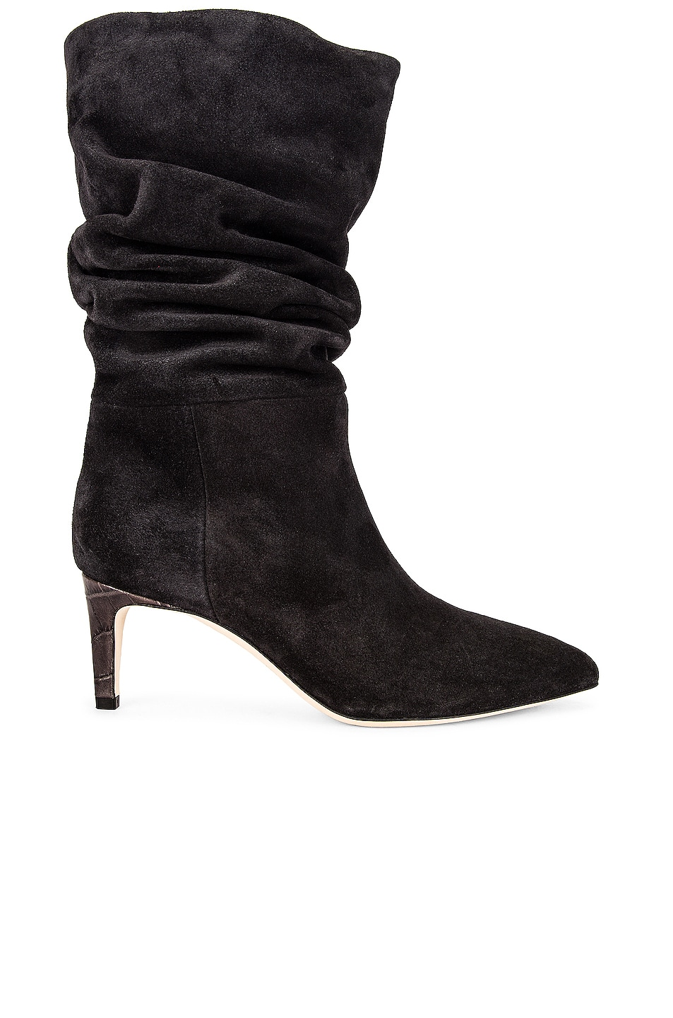 Image 1 of Paris Texas Velour Slouchy Boot in Black