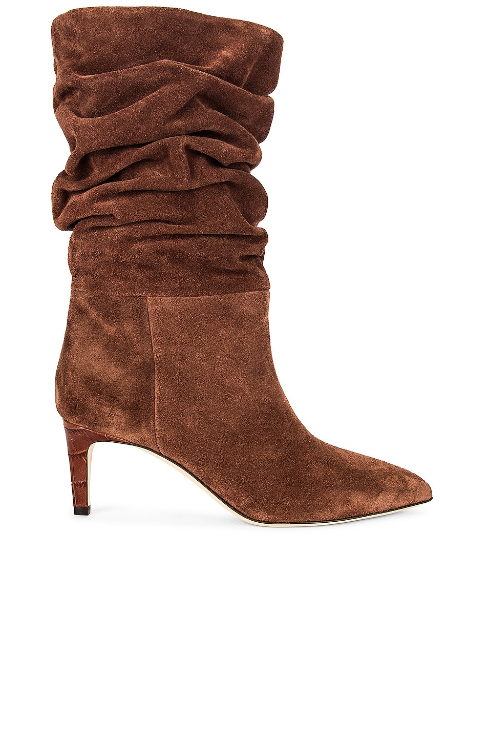 Image 1 of Paris Texas Velour Slouchy Boot in Espresso