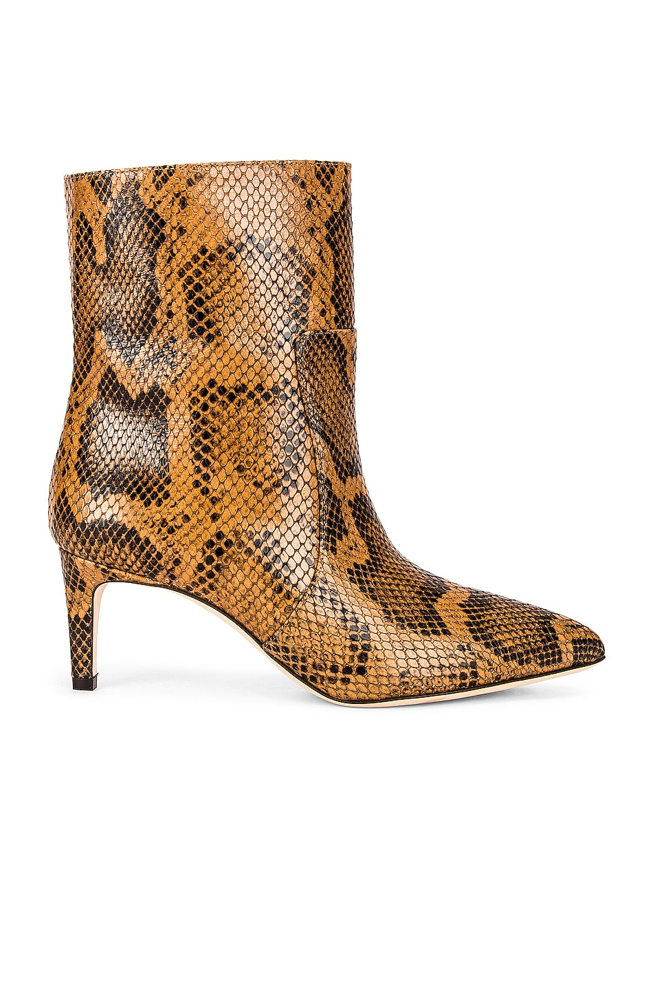 Image 1 of Paris Texas Python Print 60 Ankle Boot in Cognac