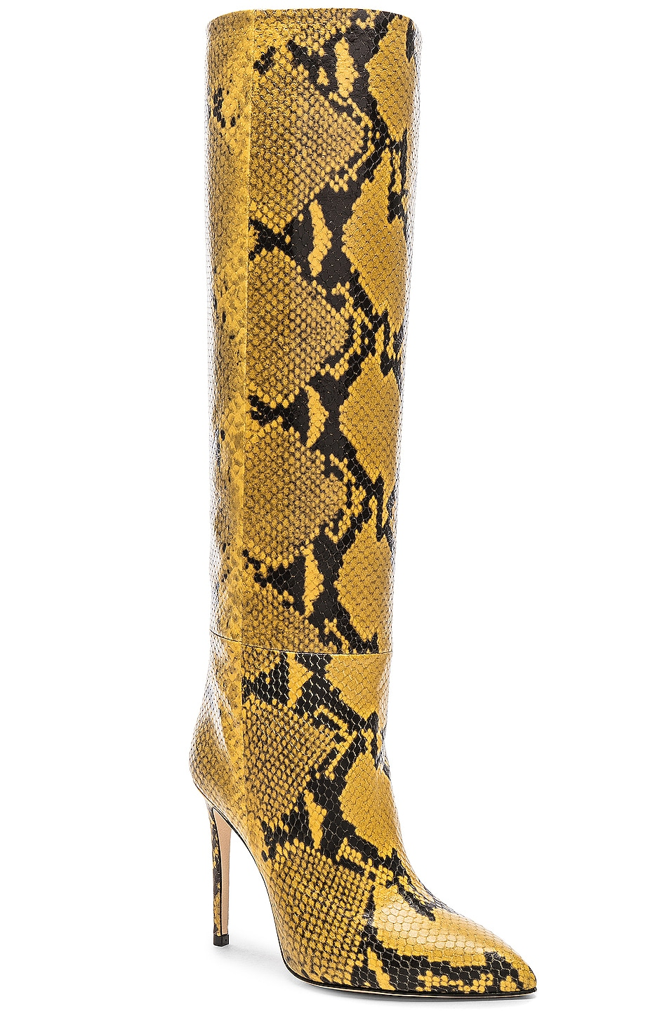 Image 2 of Paris Texas Stiletto Knee High Boot in Yellow Snake