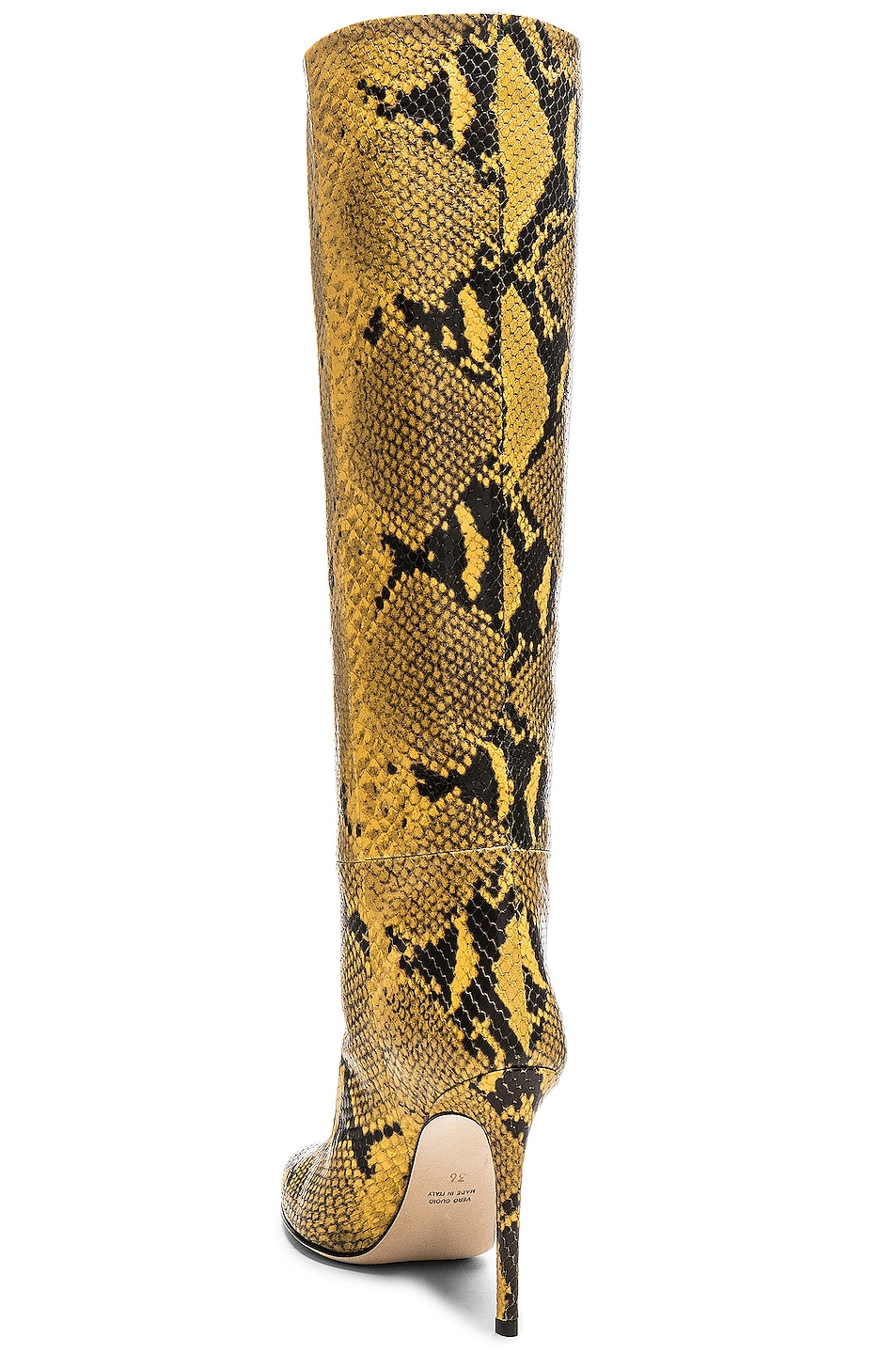 Image 3 of Paris Texas Stiletto Knee High Boot in Yellow