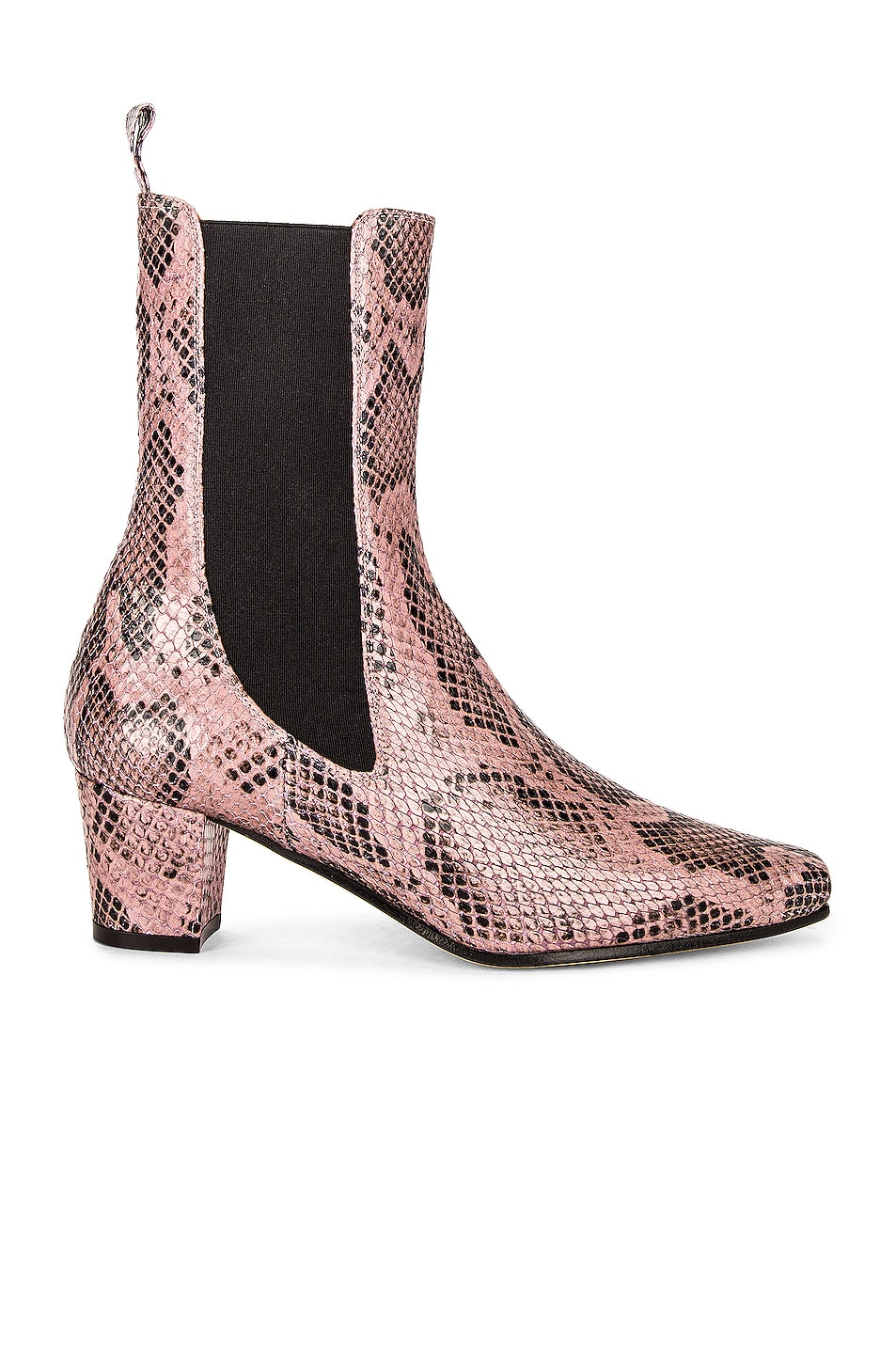 Image 1 of Paris Texas Python Print Beatles Bootie in Lilac