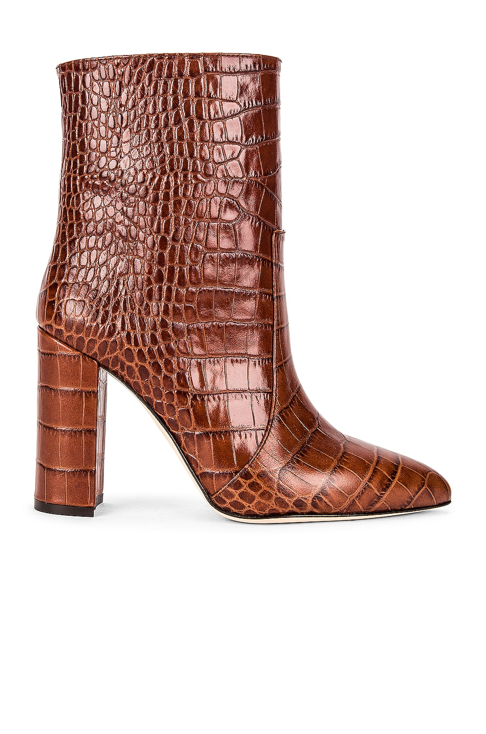Image 1 of Paris Texas Moc Croco Ankle Boot in Brown