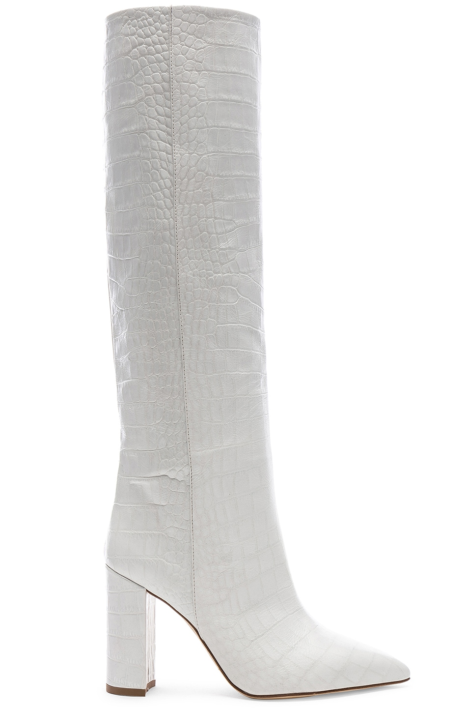 Image 1 of Paris Texas Croco Tall Boot in White