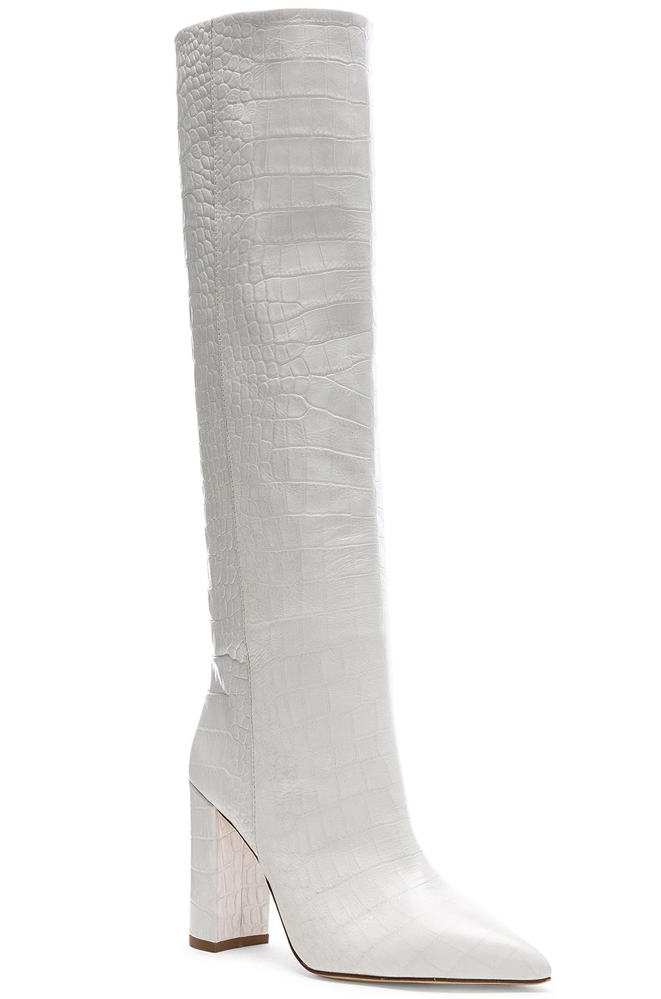 Image 2 of Paris Texas Croco Tall Boot in White