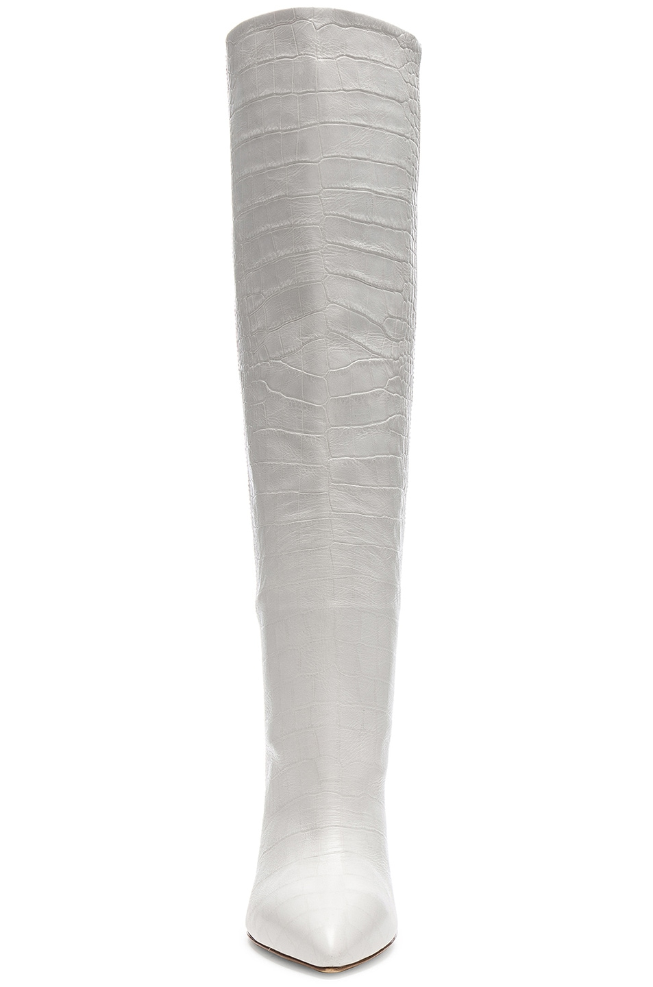Image 4 of Paris Texas Croco Tall Boot in White