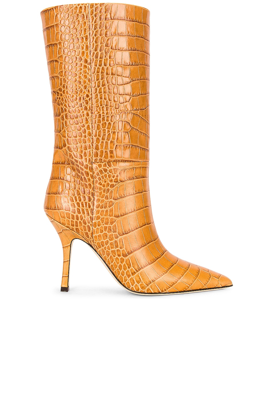 Image 1 of Paris Texas Embossed Croco Mama Mid Calf Boot in Noce