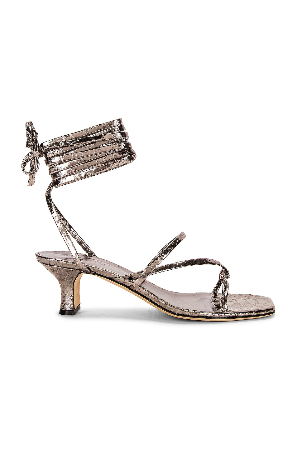 Image 1 of Paris Texas Betty Lace Up Sandal in Argento