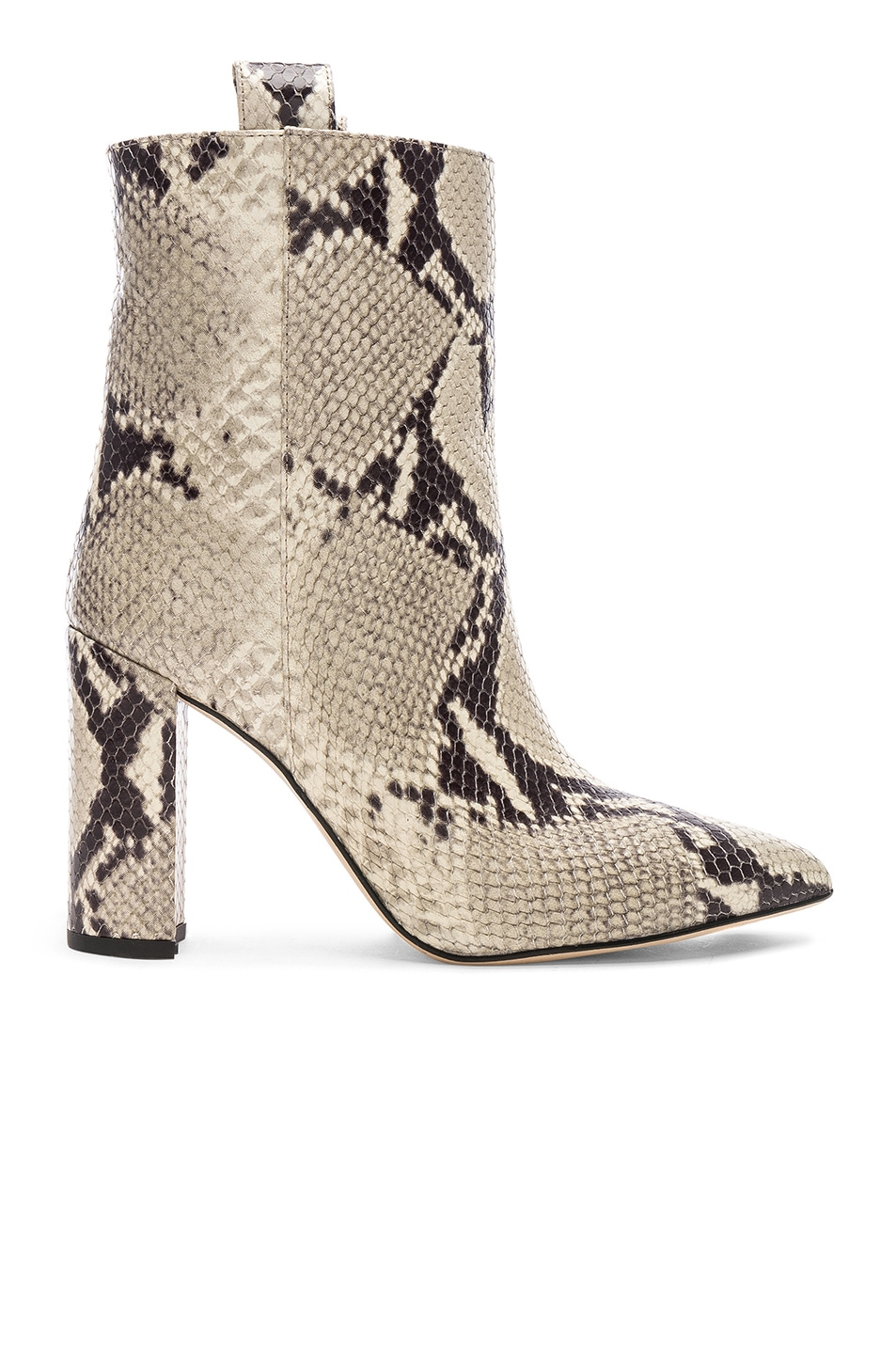 Image 1 of Paris Texas Snake Print Ankle Boot in Natural