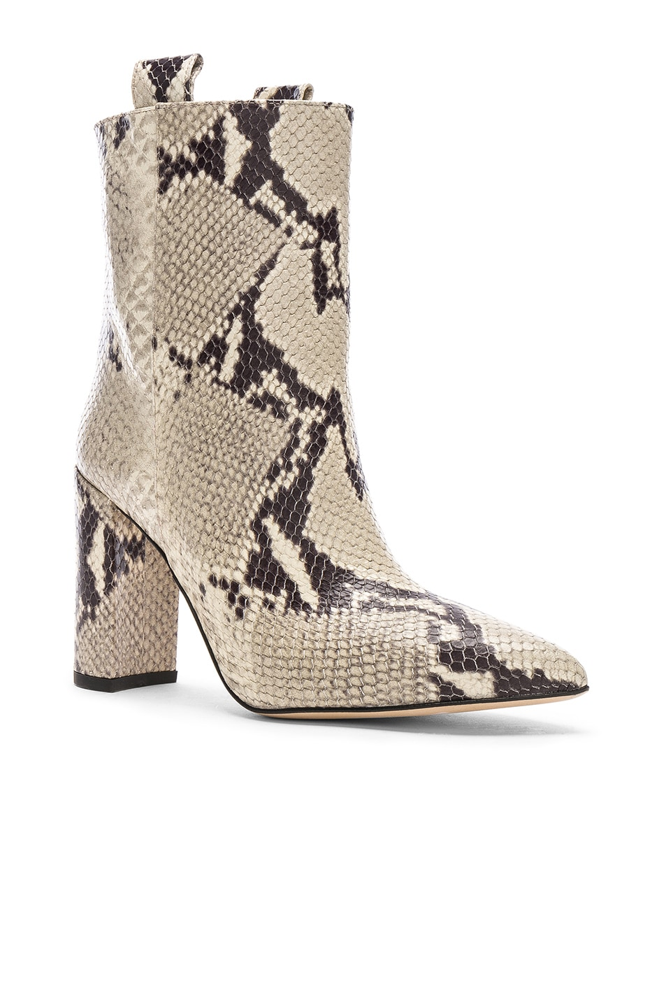 Image 2 of Paris Texas Snake Print Ankle Boot in Natural