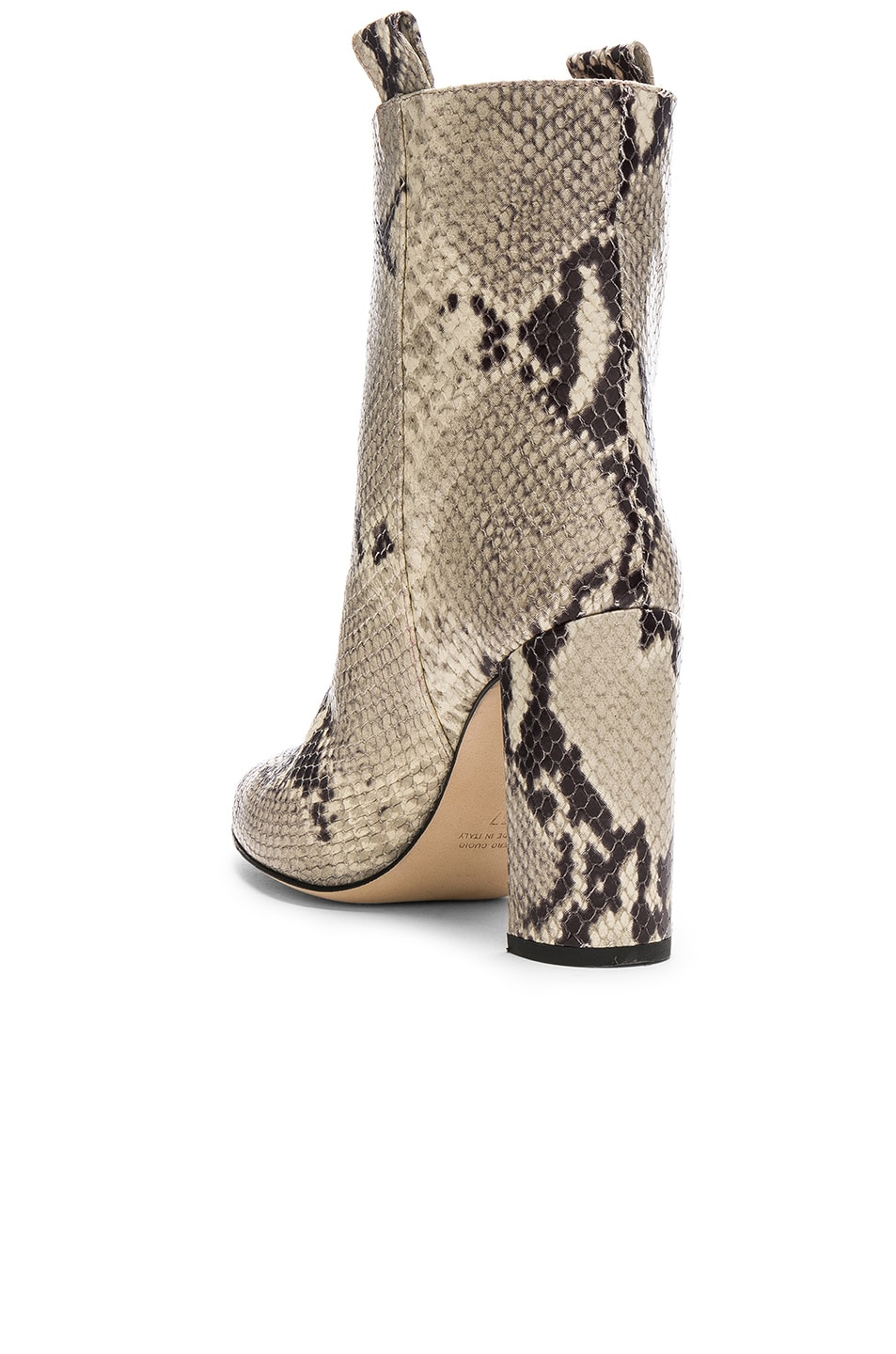 Image 3 of Paris Texas Snake Print Ankle Boot in Natural