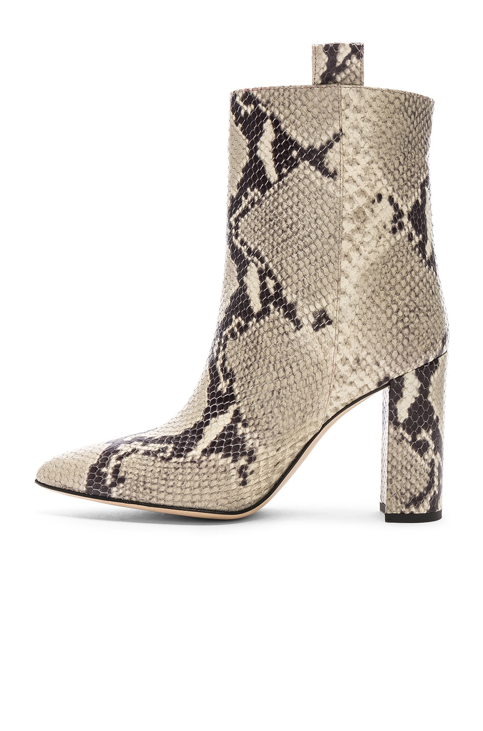 Image 5 of Paris Texas Snake Print Ankle Boot in Natural