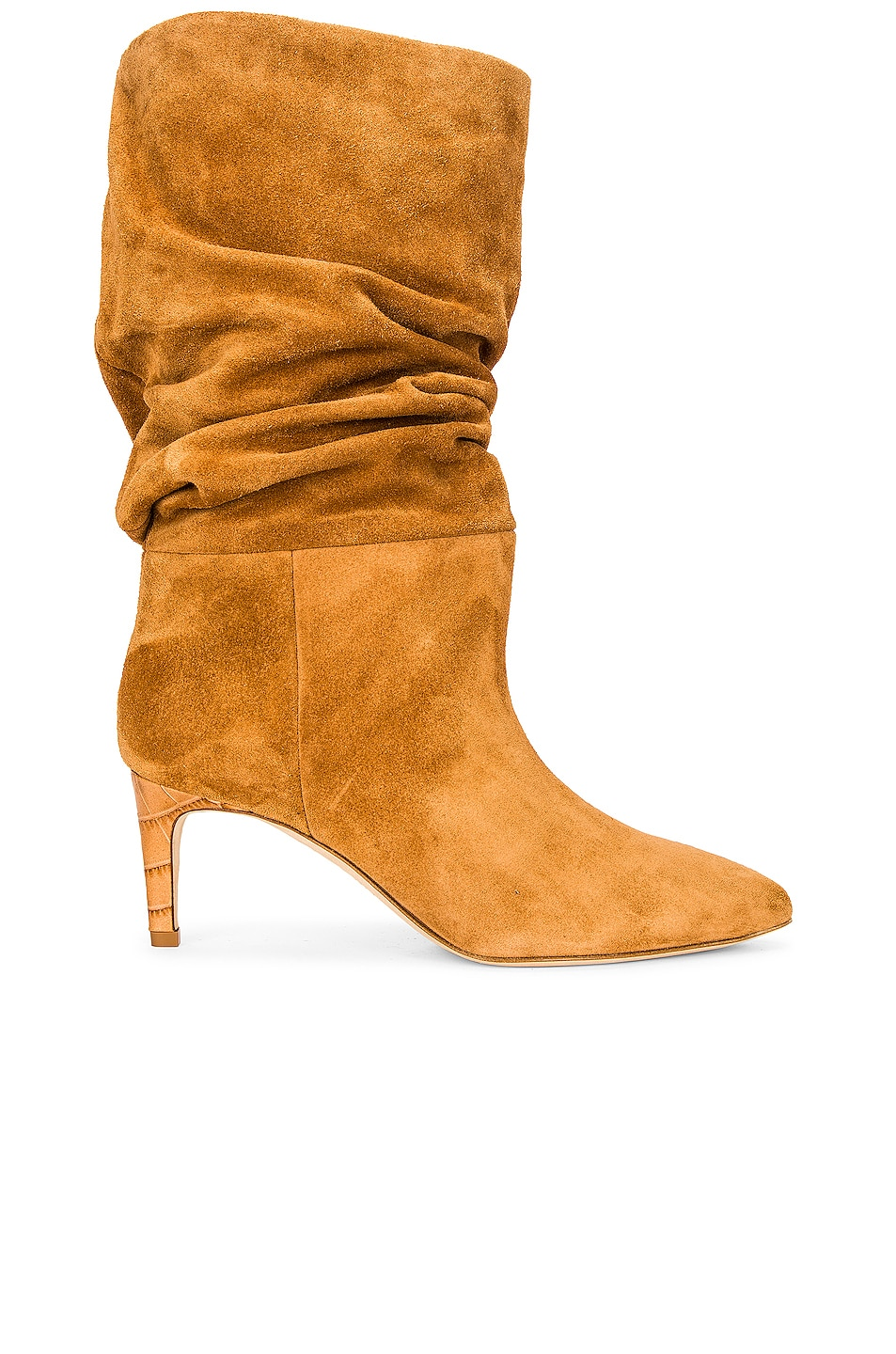 Image 1 of Paris Texas Velour Slouchy Boot in Terra