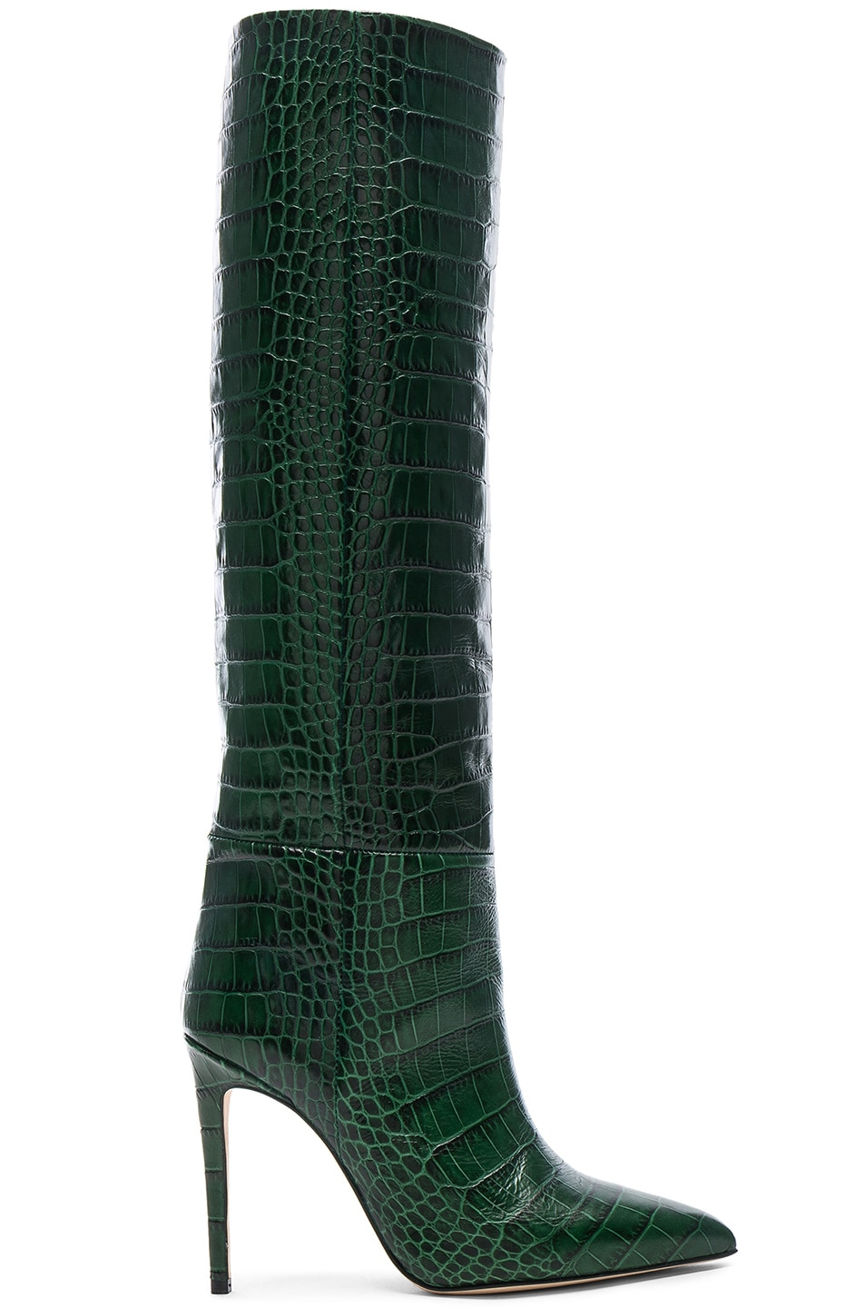 Image 1 of Paris Texas Croco Tall Boot in Green