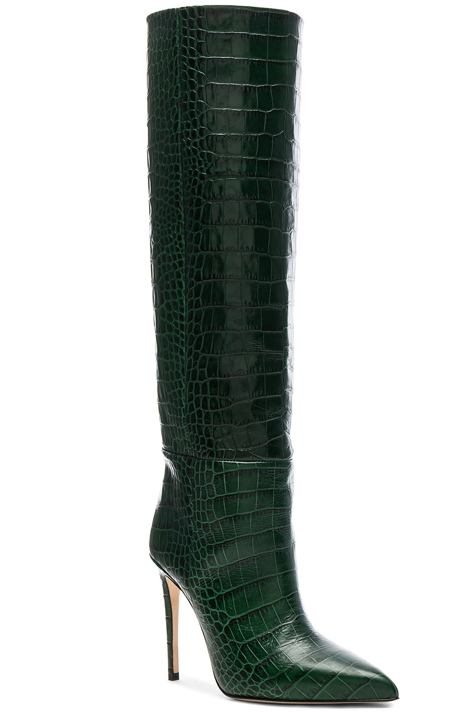 Image 2 of Paris Texas Croco Tall Boot in Green
