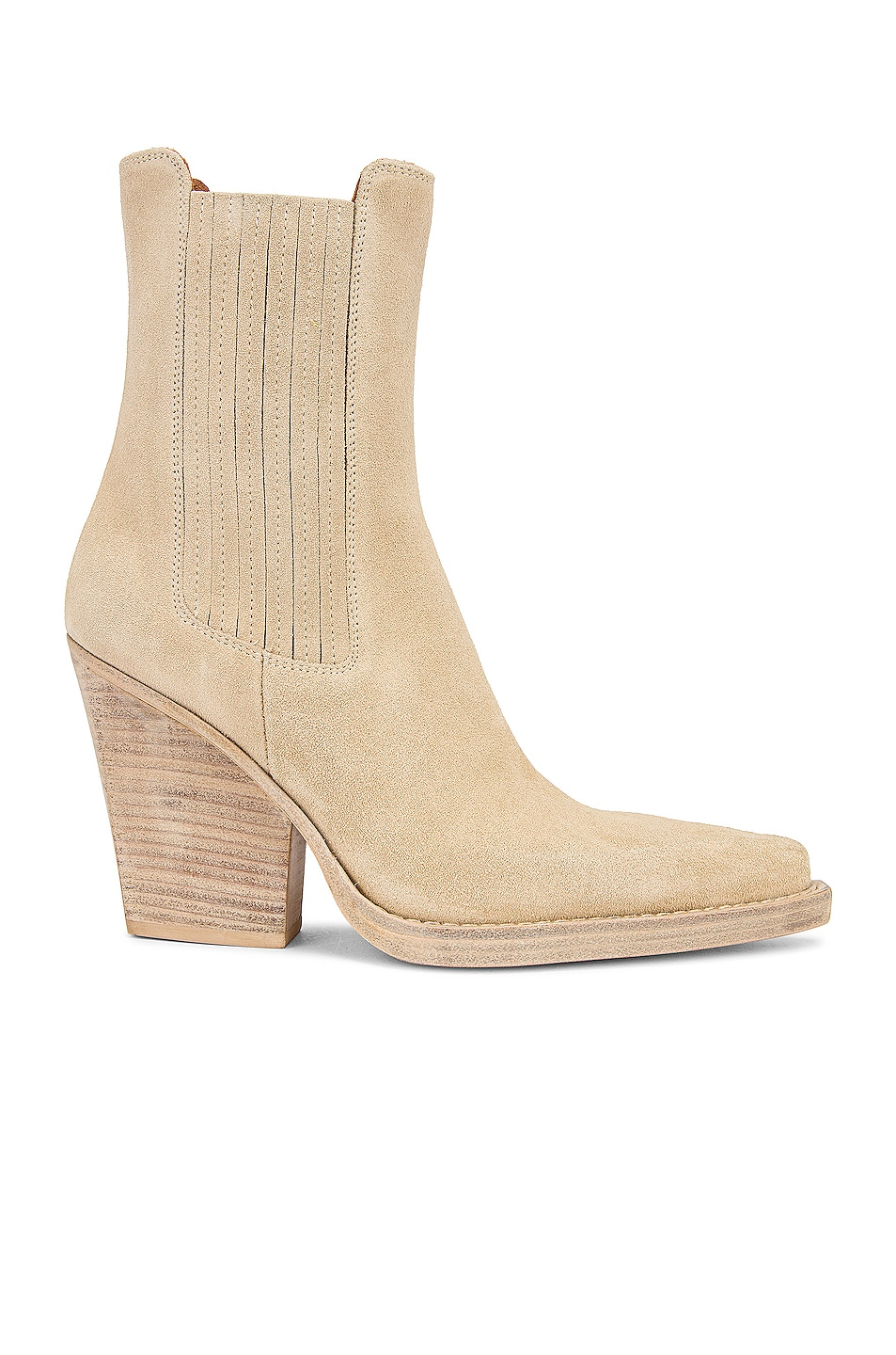 Image 1 of Paris Texas Suede Dallas 100 Ankle Boot in Angora