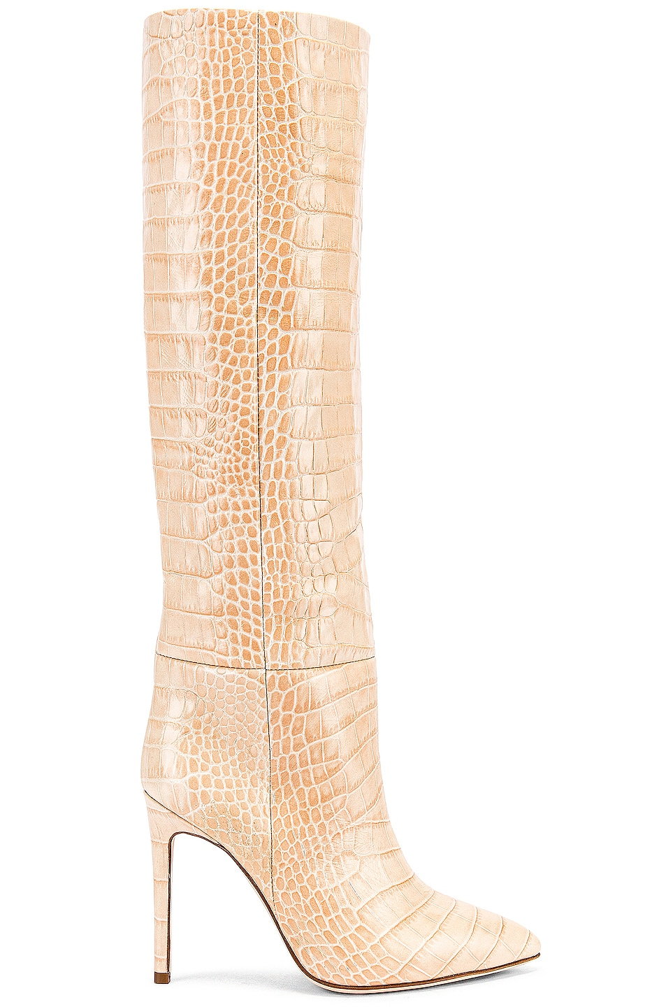 Image 1 of Paris Texas Croco Tall Boot in Beige