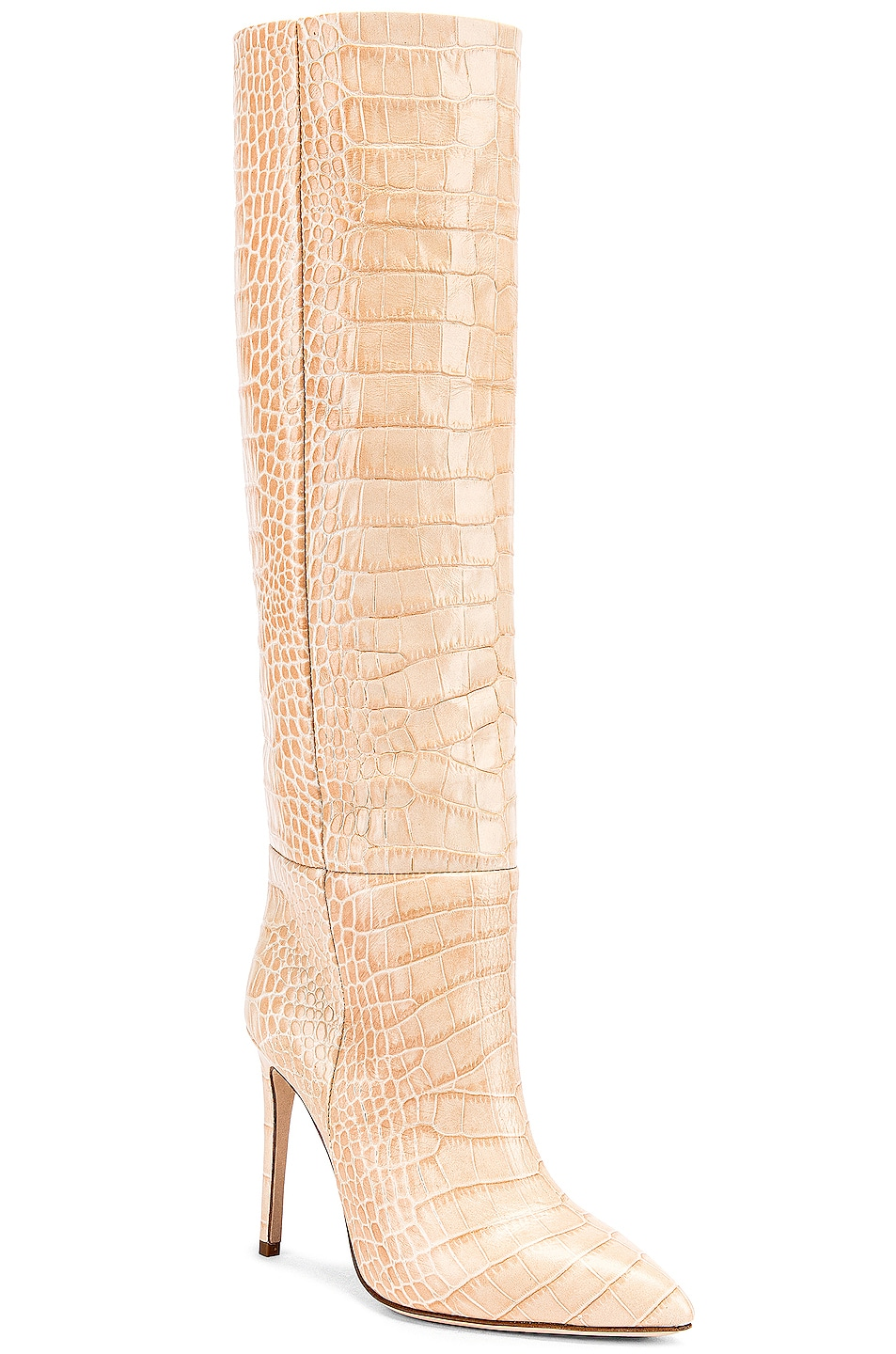 Image 2 of Paris Texas Croco Tall Boot in Beige