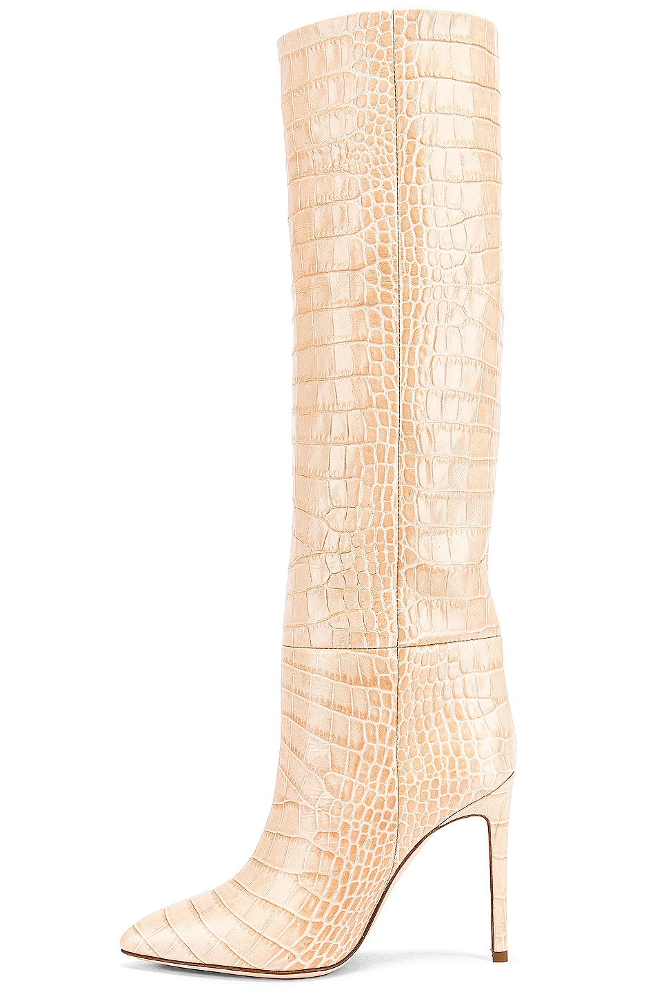 Image 5 of Paris Texas Croco Tall Boot in Beige