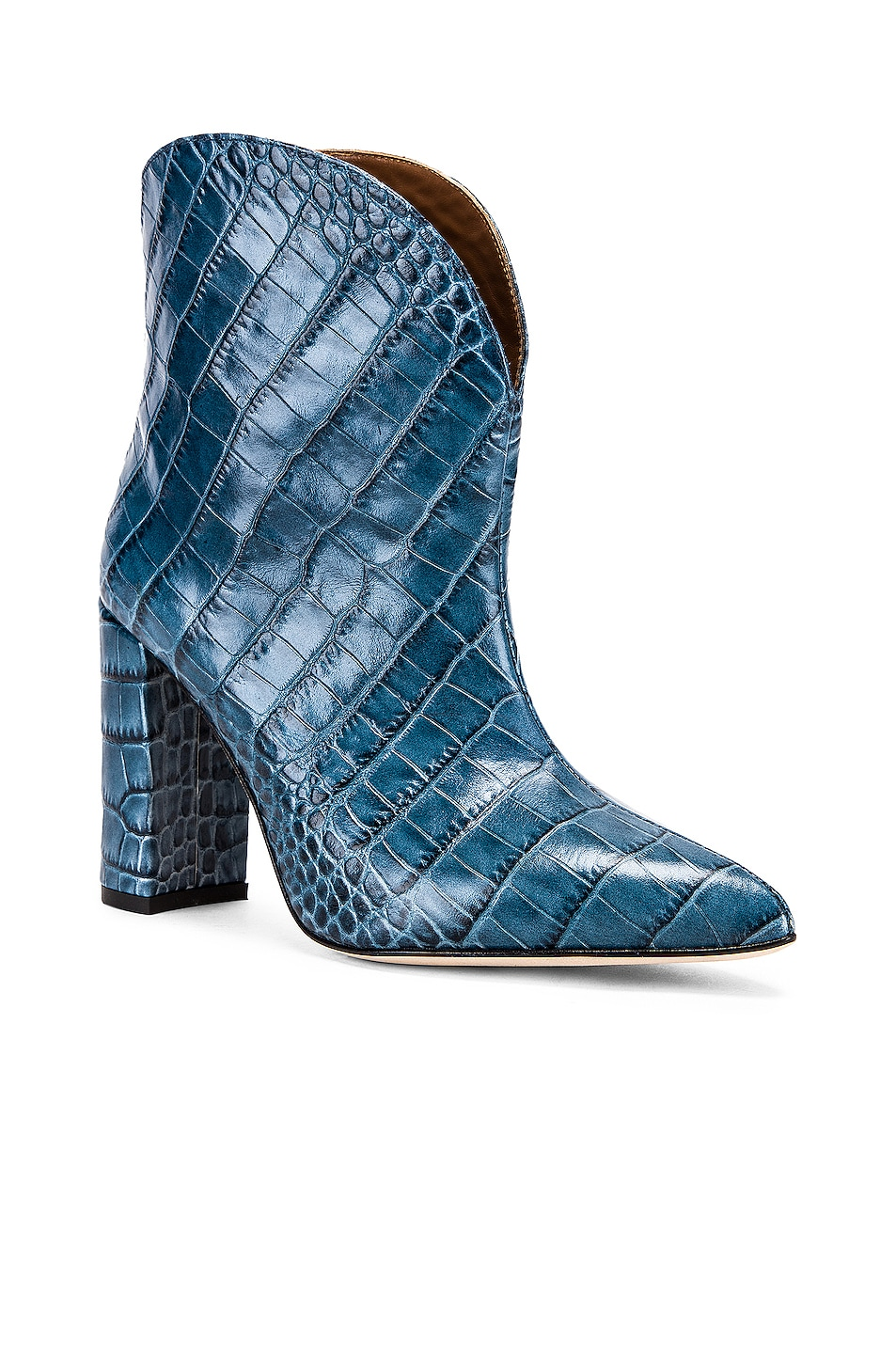 Image 2 of Paris Texas Moc Croco Ankle Boot in Jeans