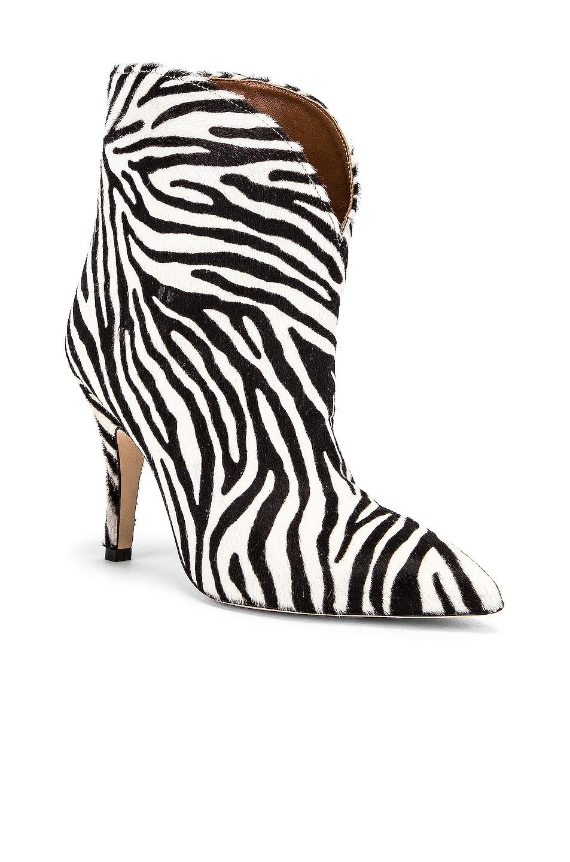 Image 2 of Paris Texas Pony Ankle Boot in Zebra