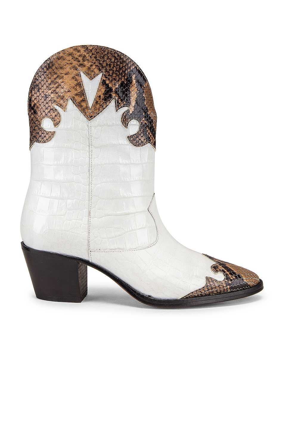 Image 1 of Paris Texas Python Moc Coco Texano Boot in Camel & White