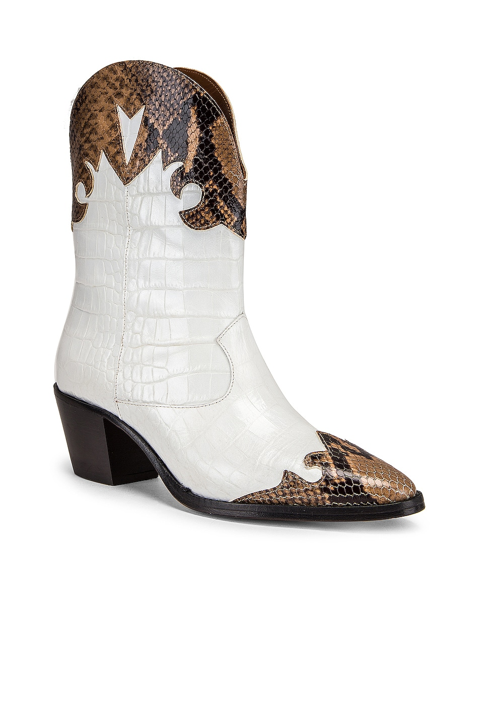 Image 2 of Paris Texas Python Moc Coco Texano Boot in Camel & White