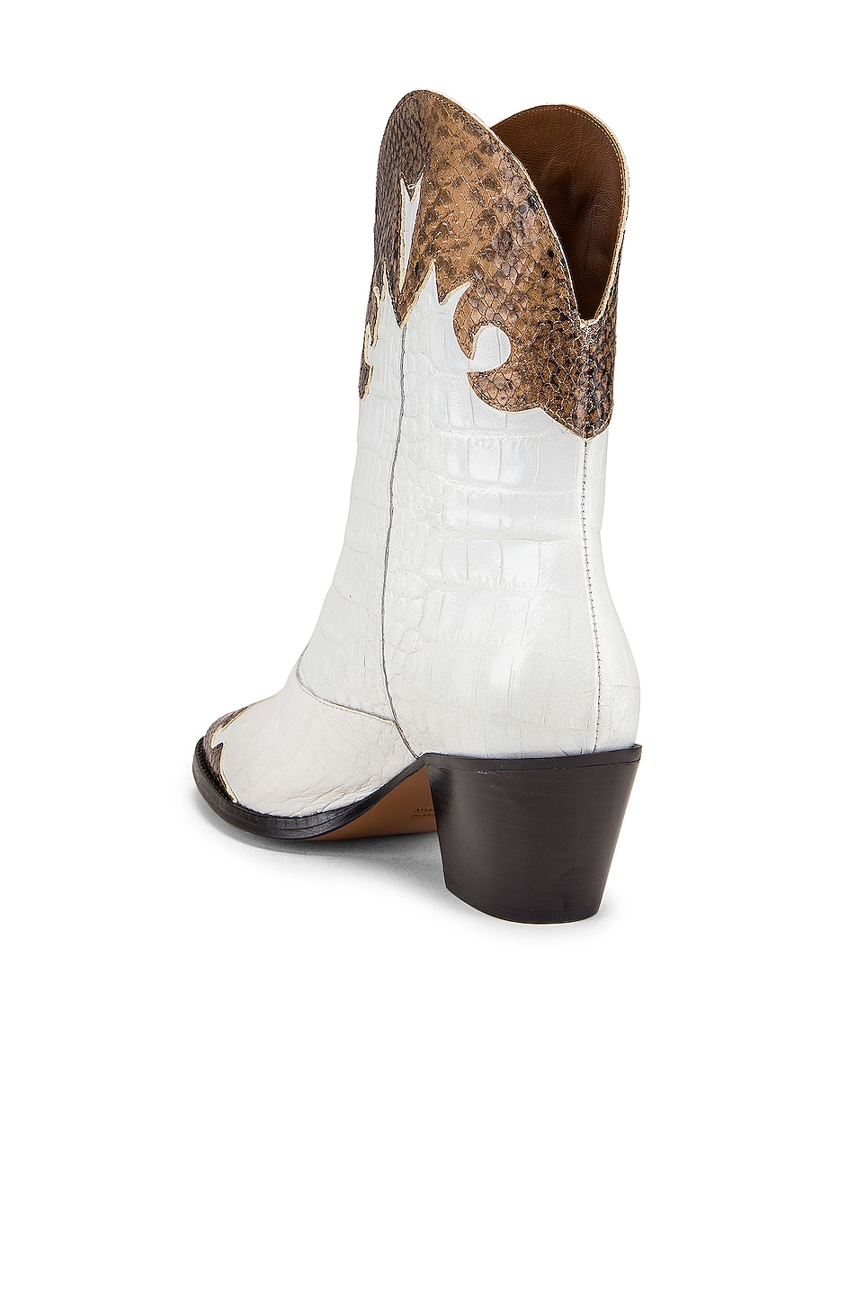 Image 3 of Paris Texas Python Moc Coco Texano Boot in Camel & White