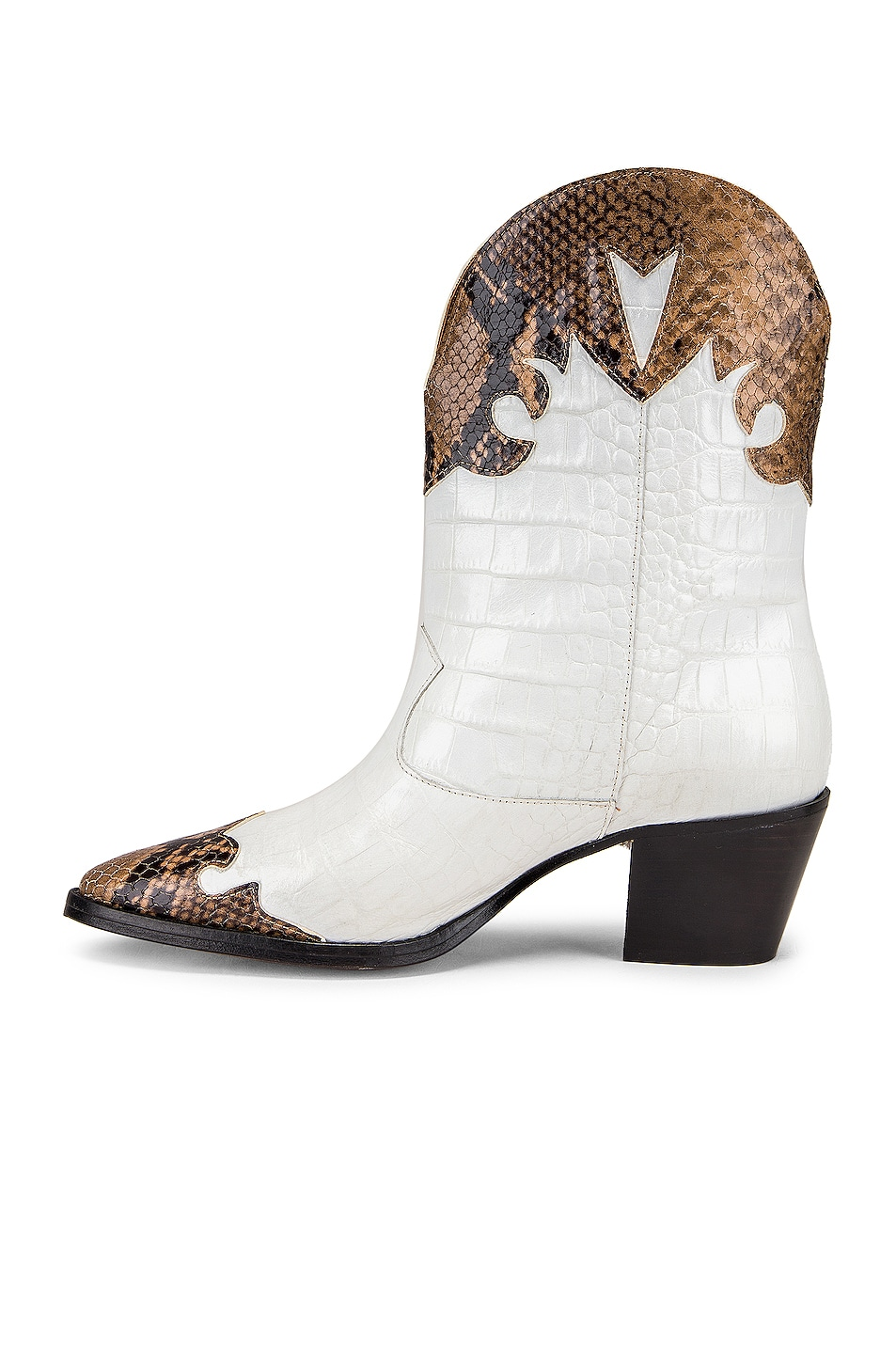 Image 5 of Paris Texas Python Moc Coco Texano Boot in Camel & White