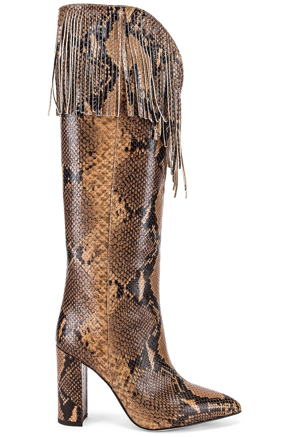 Image 1 of Paris Texas Python Western Fringe Boot in Camel
