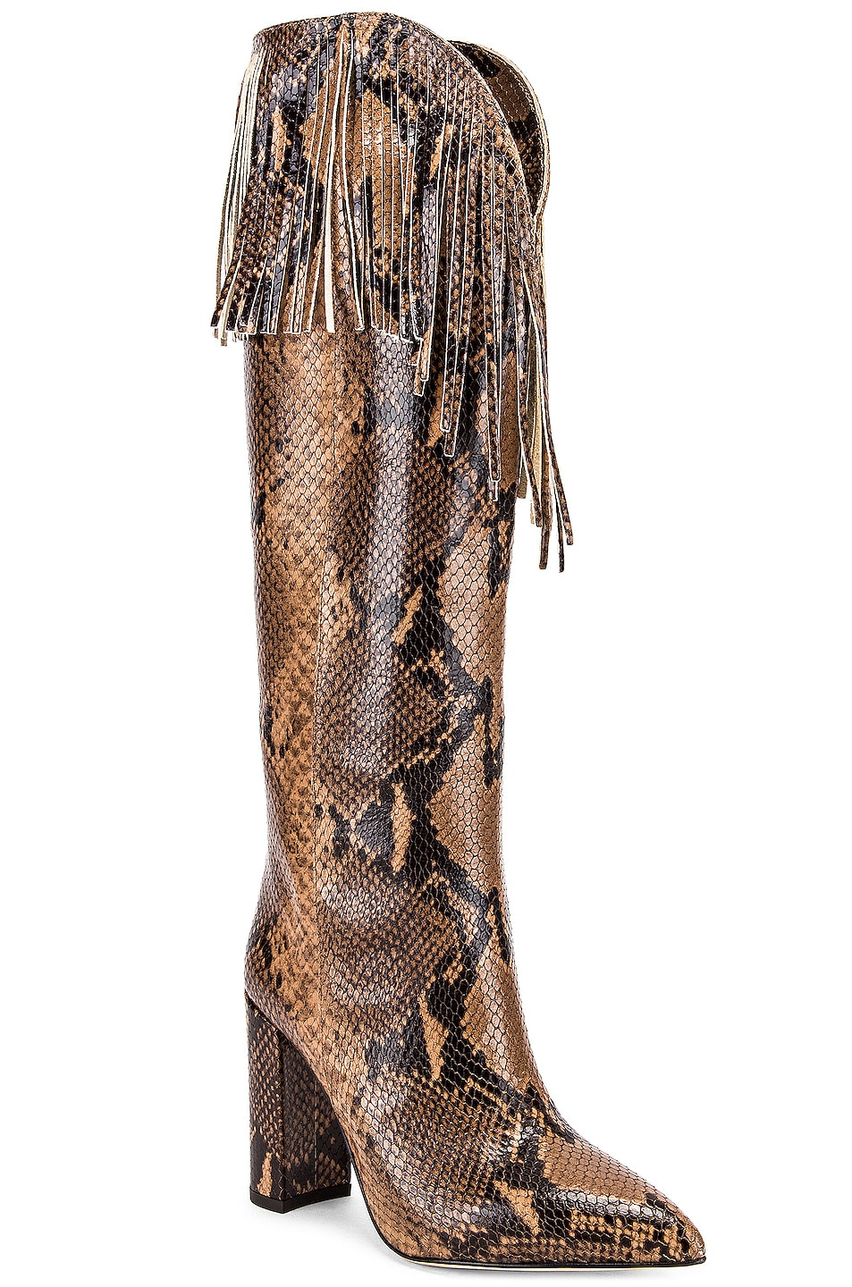 Image 2 of Paris Texas Python Western Fringe Boot in Camel
